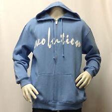 Men's Hoodie EVOLUTION JACKSON Fleece Zipper Sweatshirt Lt Blue Jacket Large L