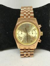 Michael Kors MK5556 Lexington Womens Stainless Steel Gold Dial Analog Watch Y144