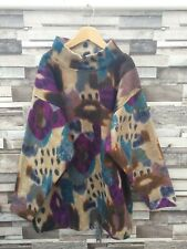Vintage Rétro Unisexe Bright Bold USA Abstract hiver Athletic Navajo Pull polaire L
