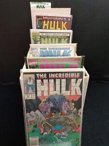MASSIVE INCREDIBLE HULK COMIC BOOK LOT 351-474 VS WOLVERINE LOTS MORE 118 COMICS