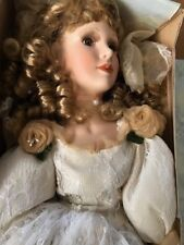 """22"""" PORCELAIN W.N.Z Brand DOLL (Margaret) With COI..NRFB...Free Fast Shipping!"""