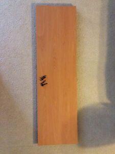 Beech Shelf +4 OEM Screws for IKEA Jerker Desk - NEVER SOLD BY IKEA AS AN OPTION