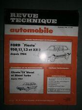 Ford FIESTA 950 1.1 1.3 XR2 de 84 : revue tech RTA 449