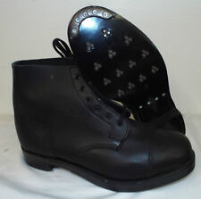 BLACK LEATHER AMMO AMMUNITION DRESS BOOTS - Size: 15 Medium British Army NEW