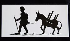 Postkarte: Scherenschnitt Märchen: Tischlein deck dich Knüppel aus dem Sack