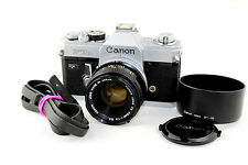 CANON FTb QL 35mm Classic Film Camera with Canon 50mm 1:1.8 S.C. Prime Lens.