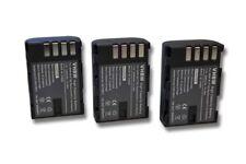 3x BATERIA 2000mAh para Panasonic Lumix DMC-GH3, Lumix DMC-GH3A / DC-GH5