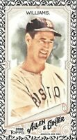 Ted Williams 2018 Topps Allen & Ginter BLACK MINI Red Sox #190
