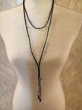 Blak And Silver Bead Necklace