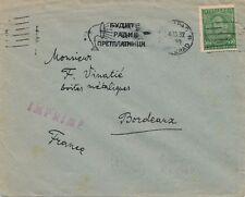 Lettre Imprime Belgrad Bordeaux France Cover Brief Serbia