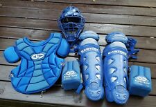 Easton Adult Baseball Blue Catchers Gear Helmet Mask Shinguards Knee Savers