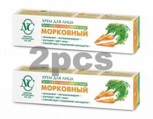 X2pcs Neva Cosmetics Facial Cream Carrot Anti Aging Softens Moisturizes Skincare
