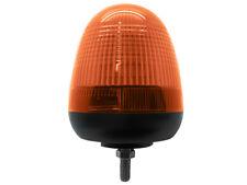 12v / 24v Single 1 Bolt Point Mount LED Flashing Amber Orange Warning Beacon
