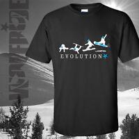 Snow boarding - t-shirt, board evolution, learing, winter snowboard Wolfride