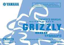 Yamaha Owners Manual Book 2004 Grizzly 660 YFM660FS