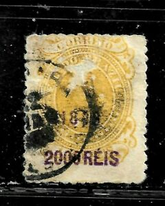 HICK GIRL- USED BRAZIL STAMP   SC#158   1899  SURCHARGE ISSUE       E1448