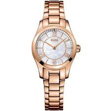 Nuevas damas HUGO BOSS 1502378 embajador De Oro Rosa Reloj - 2 Año De Garantía