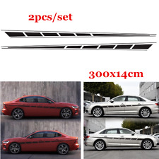 2x Universal Car Body Decal Vinyl Graphics Side Stickers Racing Sport Decals
