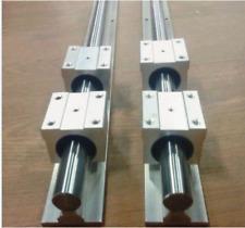 SBR16-2000mm linear slide guide 16mm shaft 2 rail+4SBR16UU bearing block CNC  J