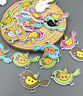 50X Wooden Sewing Bird Buttons Scrapbooking Decorations Multicolor 2-Holes 30mm