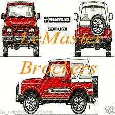 SUZUKI SAMOURAI 4x4  Poster voiture auto jeep yougtimer automobile arts déco