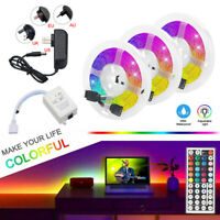 49.2ft 32.8ft RGB 300LEDs 3528 LED Strip Light SMD+44Key Remote+12V Power Kit