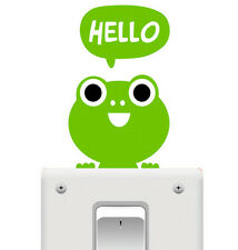 Cute Green Frog Pet Light Switch Funny Wall Decal Vinyl Stickers DIY ~1pc~
