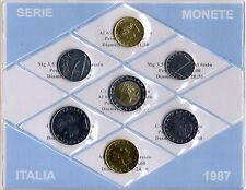 REPUBBLICA ITALIANA - SERIE MONETE ITALIA DIVISIONALE 1987 _ FDC