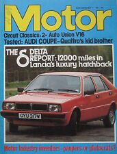 Motor magazine 2/5/1981 featuring Audi Coupe road test, Auto Union cutaway