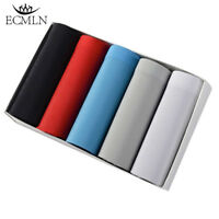 5pcs Mens Icy Seamless Boxer Ultra Thin Breathable Trunks Bulge Pouch Underwear