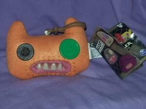 Fuggler ORANGE Funny Ugly Monster with Teeth Back Pack /  Keychain Clip On Plush