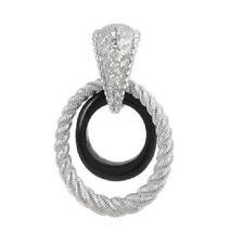 ❤ Judith Ripka Sterling Silver & Black Onyx Oval Drop Enhancer ~NEW~ ❤