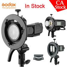 US Godox S2 Bowens Mount S-type Holder Bracket for Godox V1 AD200 AD400Pro Flash