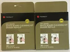 Foray Dry Erase White Board Cleanimg Kit Eraser Refills 2 Boxes New