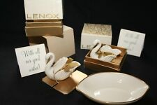 Vintage *Lenox* Porcelain Swan Salts And Trinket Dish/Ashtray!