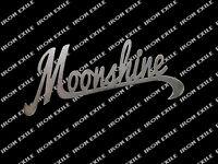 Moonshine Alcohol Whisky Metal Sign Ornament Decor USA Made Plasma Cut Word