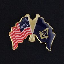 Masonic  & U.S. Flag Lapel Pin (USM2-1)