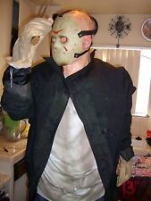 "JASON VOORHEES LIFE SIZE ANIMATRONIC. 6'4"" TALL. Complete. Halloween prop."