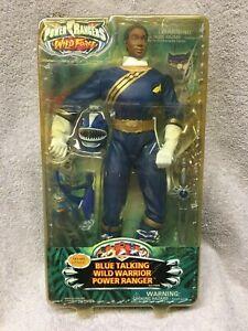 "BLUE TALKING WILD WARRIOR POWER RANGER new wild force MAX rangers 2002 12"" shark"