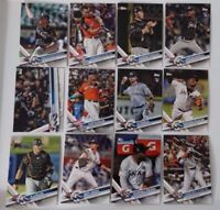 2017 Topps Update Miami Marlins Team Set of 12 Baseball Cards