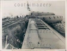 1937 Horrific Wabash Railroad Train Crash Near Danville IL Press Photo
