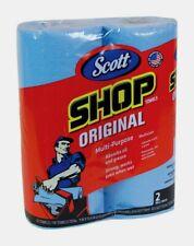 "2pk Scott's SHOP TOWELS 11""x10.4"" 55 Sheets/ Roll Heavy Duty Cloths Garage 75040"