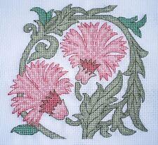 KL74 DeMorgan Carnation Counted Cross Stitch Kit by Goldleaf Needlework