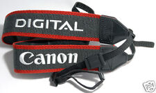 CANON Grey Red Black Camera Strap Genuine EOS DIGITAL D50 D60 D70 7D 5D Mark II