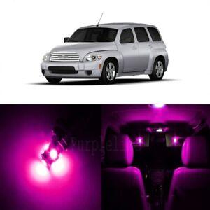11 x Pink LED Interior Light Kit For 2006 - 2011 Chevrolet Chevy HHR + TOOL