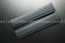 HQ 21mm Black Rubber watch band DIVER  fit for Patek Philippe strap AQ5164