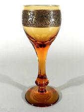 Ludwig MOSER Glas Römer ° Pokalglas ° oroplastischer Amazonenfries Karlsbad 1922