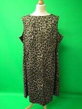 Grey and Black Animal Print Sleeveless Dress from F&F size 22