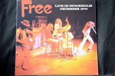 """Free Live In Stockholm December 1970 Ltd 500 12"""" vinyl LP New + Sealed"""