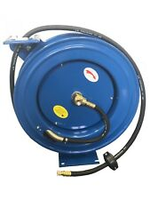 RDGTOOLS 50FT AUTO RETRACTABLE AIR HOSE REEL REWIND WALL MOUNTABLE AIR LINE